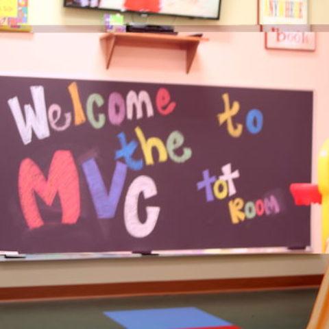 Kid's Chalkboard in Tot Room