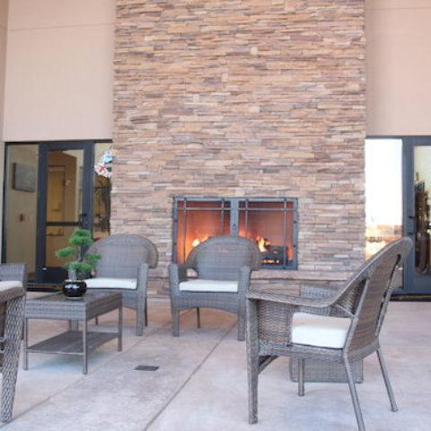 MVC Community Center Fireplace Exterior